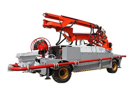 工程车底盘混凝土噴漿機组